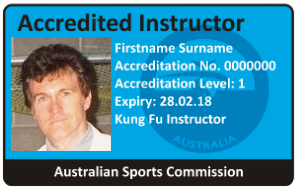 NCAS (Australian Sports Commission) Accreditation ID Card